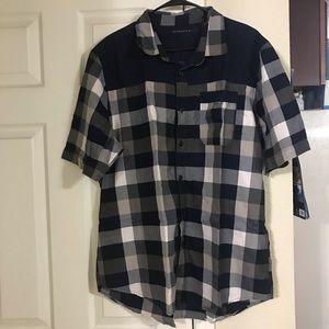 Sean John collard plaid shirt button down 2XL